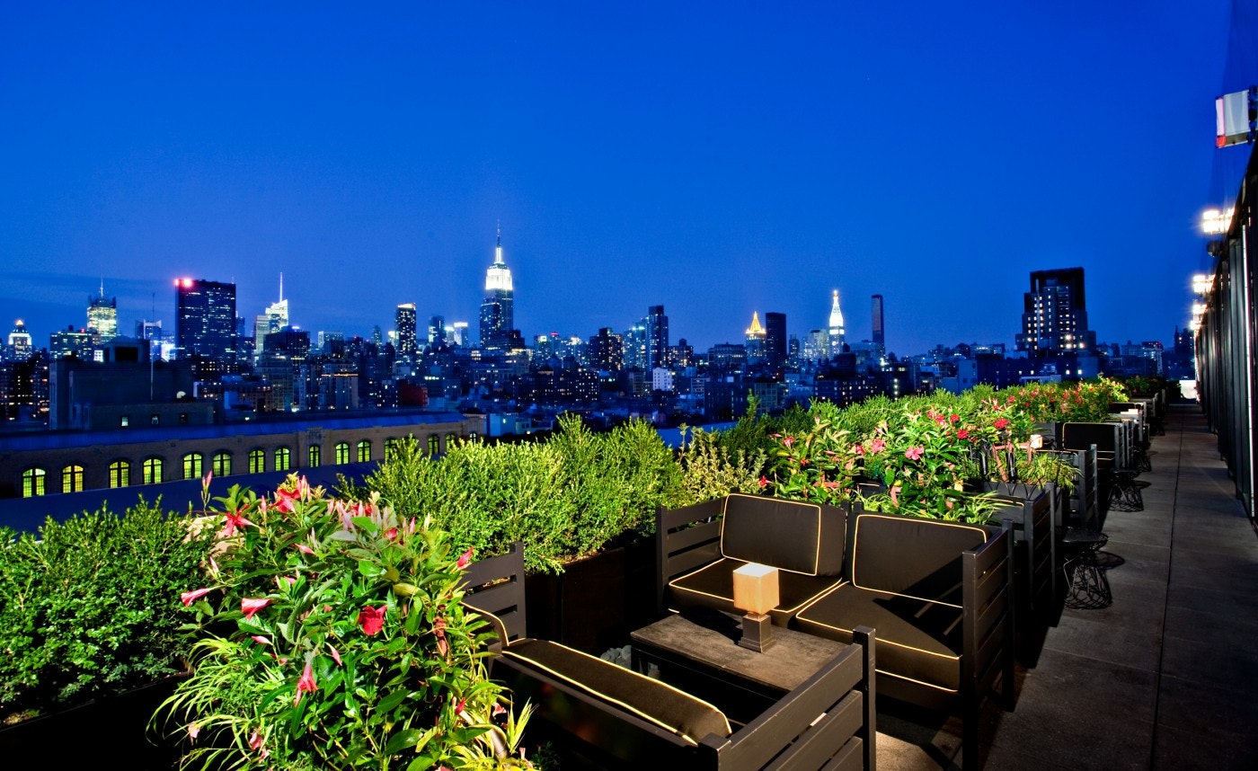 outdoor heated terrace