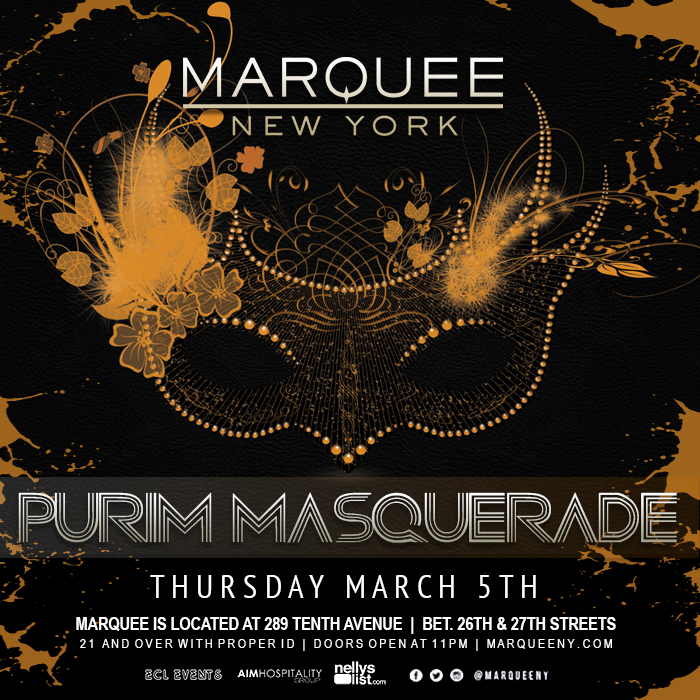 MARQUEE MARCH 5-purimparty